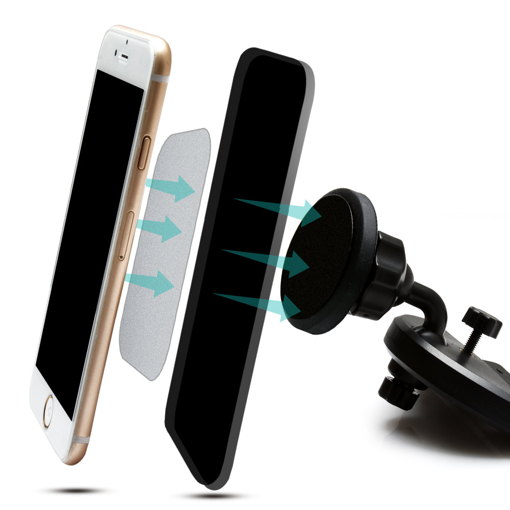 universal cd dash slot magnetic cradle smartphone car mount holder for iphone ebay. Black Bedroom Furniture Sets. Home Design Ideas
