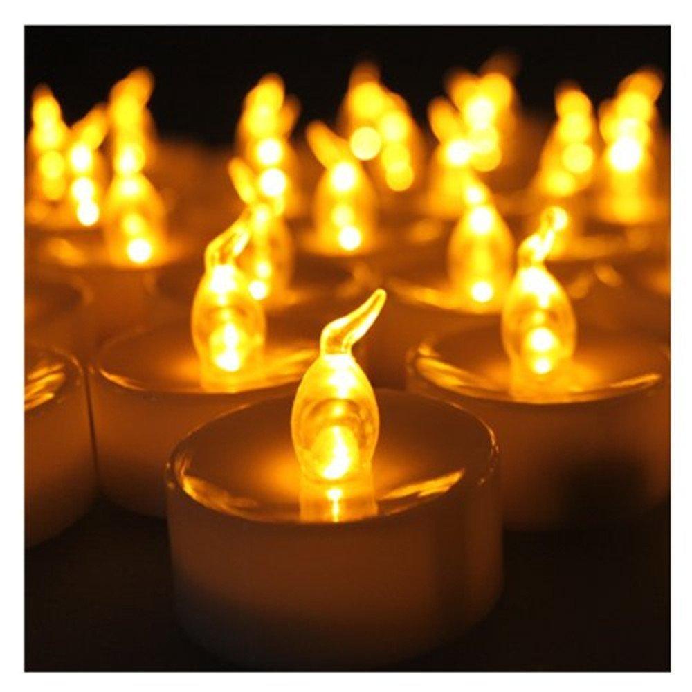 24/60/100 PCS Electronic Tea Light LED Candle Cool White Warm White Amber  Yellow