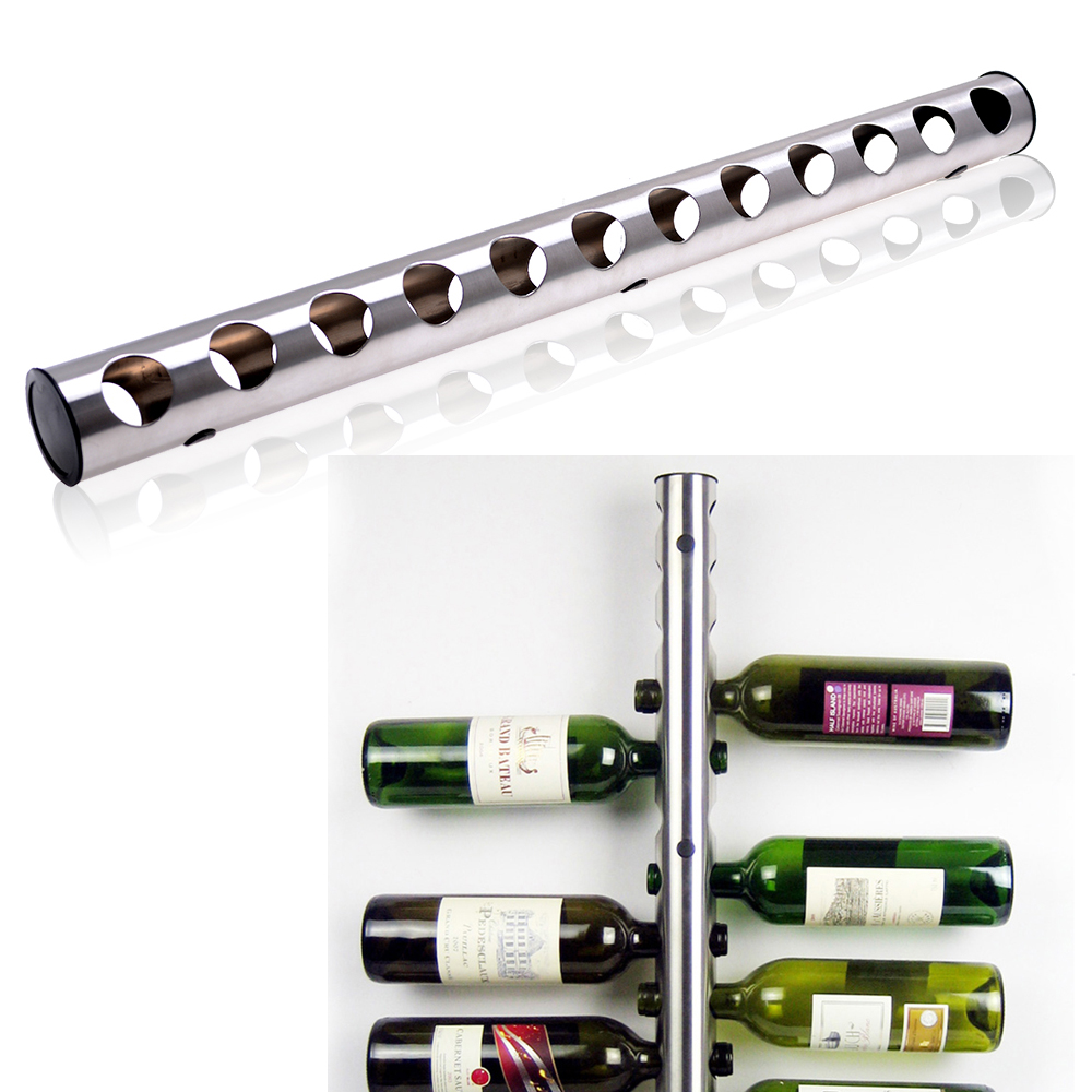 wall mounted wine rack  ebay - stainless steel wine rack bar wall mounted kitchen holder  bottles