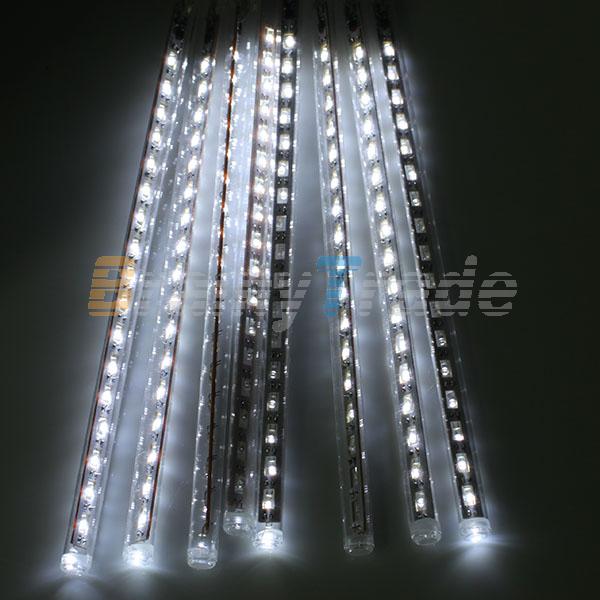 30/50cm 144/240 LED Meteor Shower Rain Lights Waterproof 8 Tubes String For  Xmas