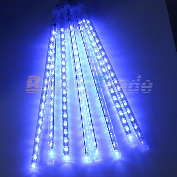 3050cm led meteor shower rain lights waterproof 8 tubes string for xmas