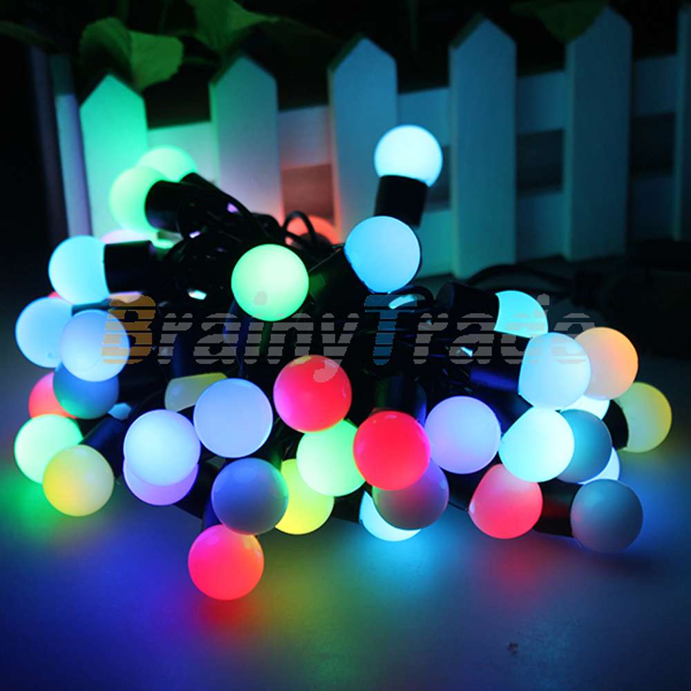 16ft Rgb Color Changing Led Balls String Light For