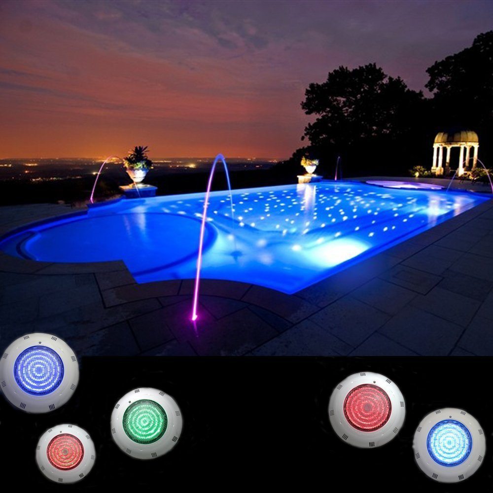 Underwater Swimming Pool Light Fountain Lamp Above Ground Pool Light with  Remote