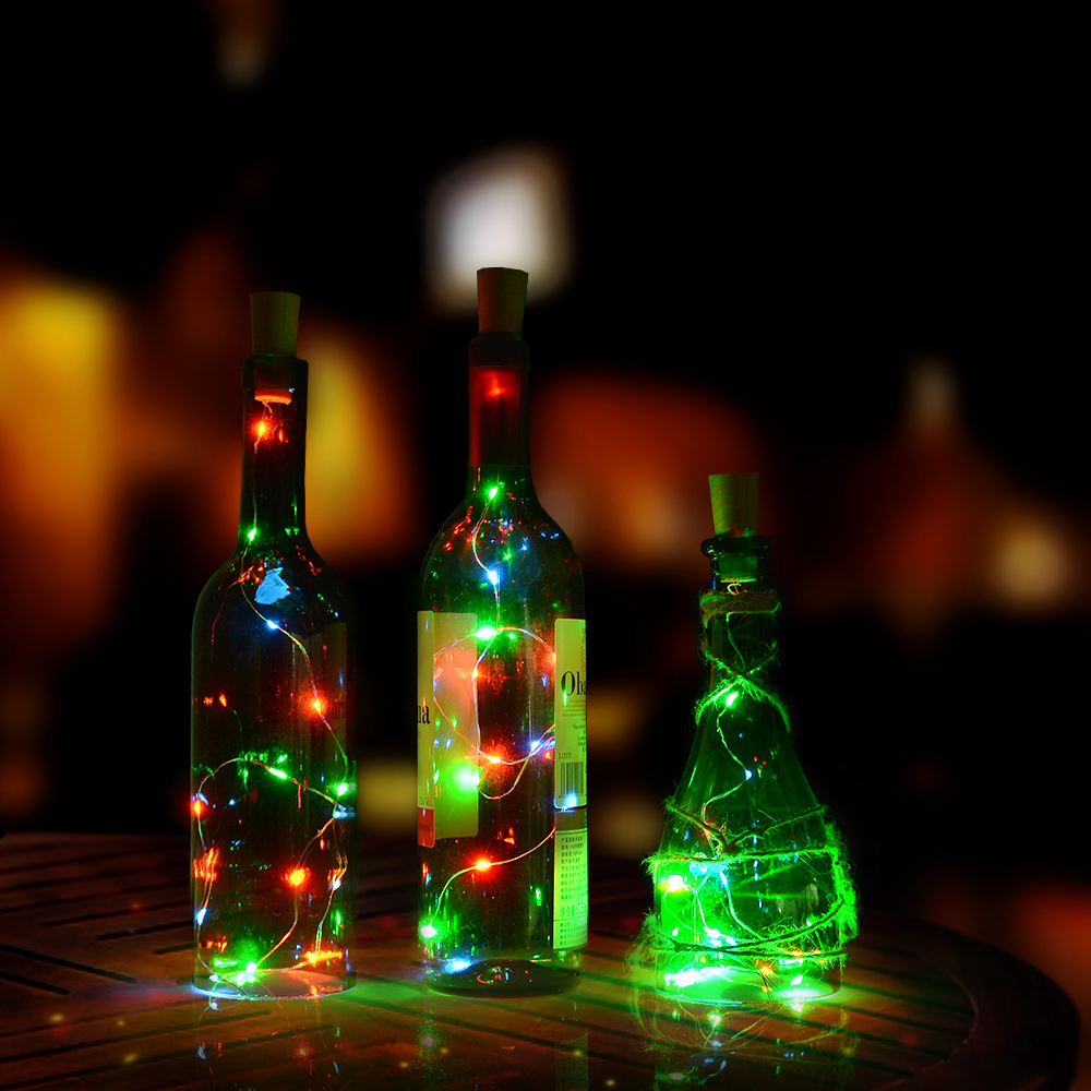 String Lights In Wine Bottles : 3x Starry Copper Wire Light String Cork Shaped LED Bottle Wine Stopper Lamp eBay